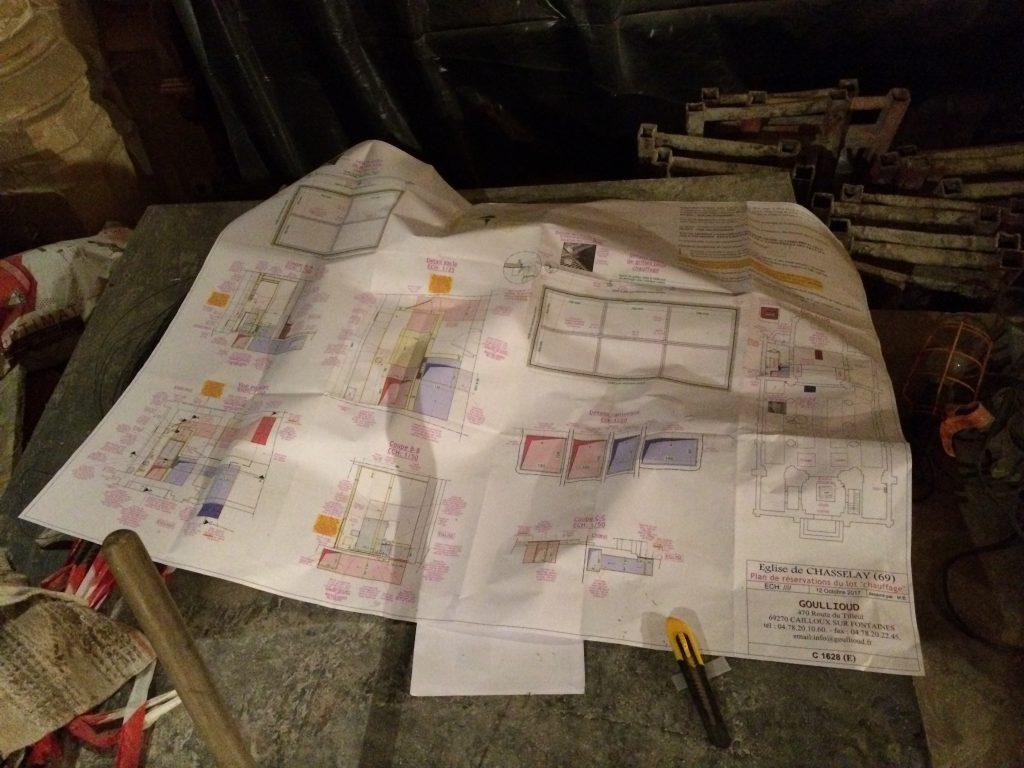 travaux eglise chasselay plan
