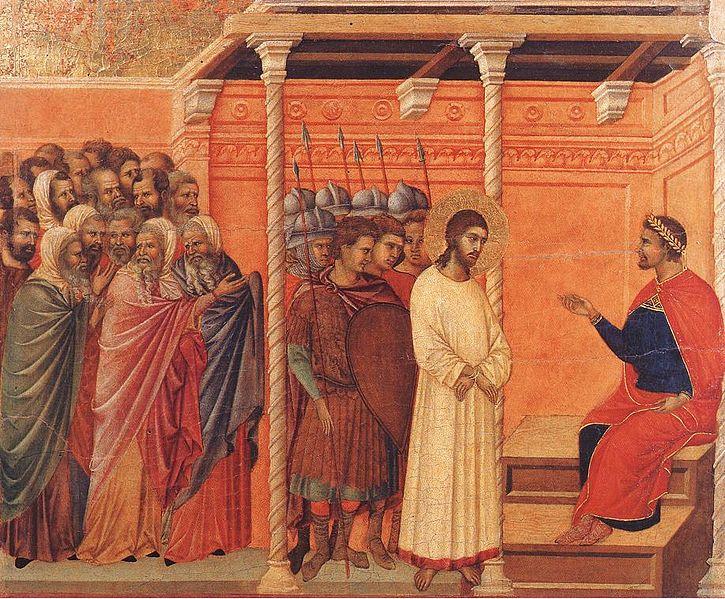 Duccio di Buoninsegna Christ devant Pilate