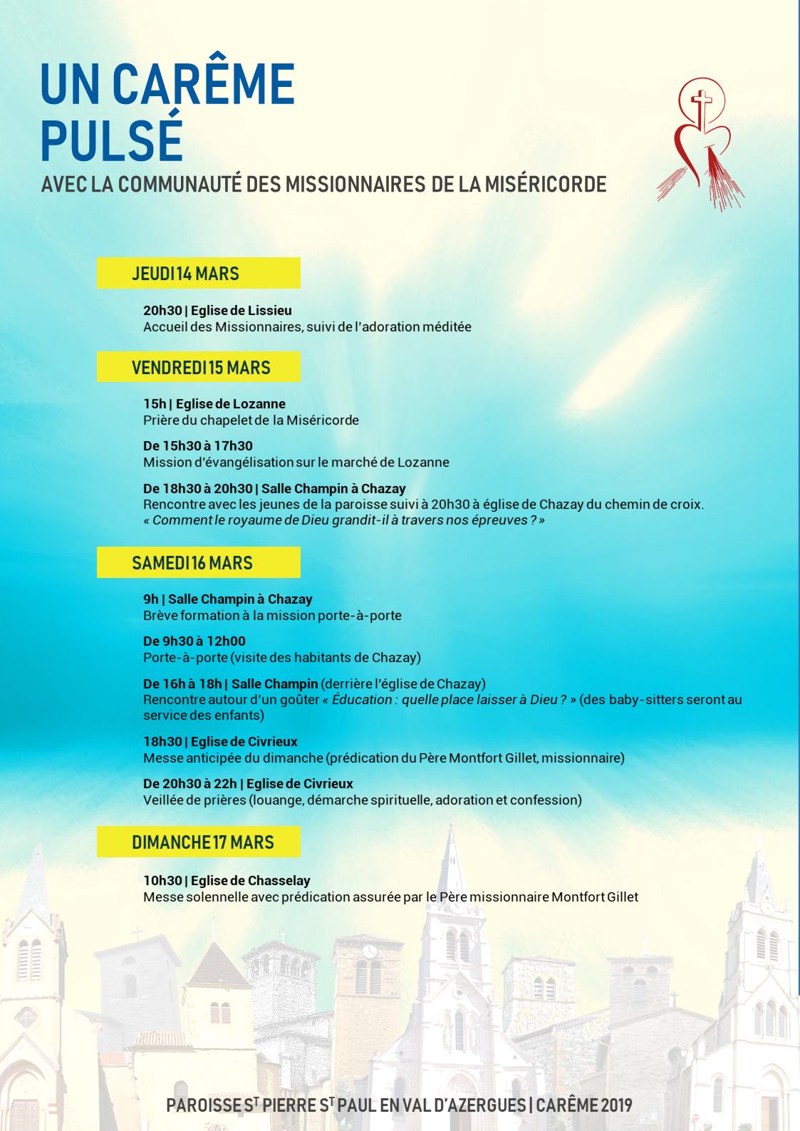 Affiche Mission Careme 2019