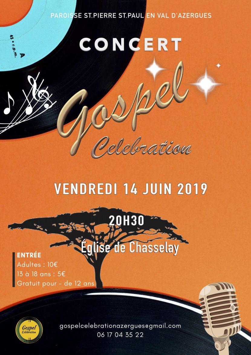 Affiche concert gospel célébration