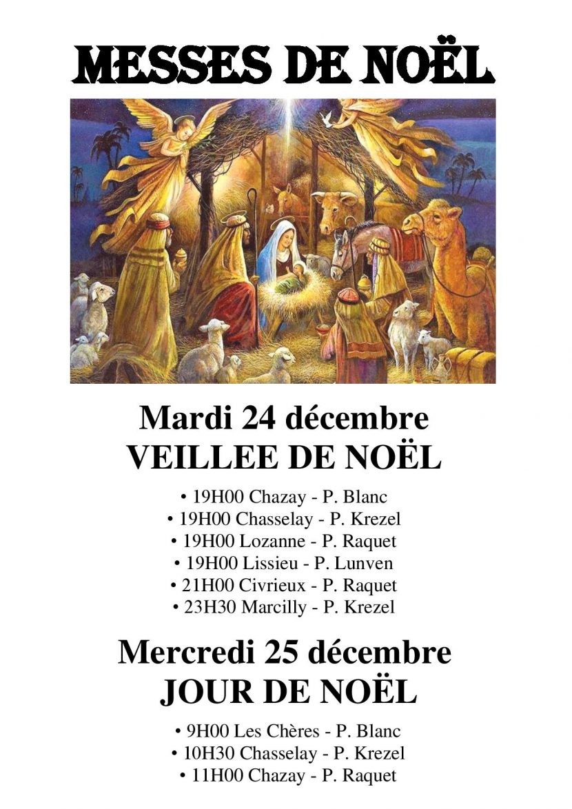 Messes de Noël 2019