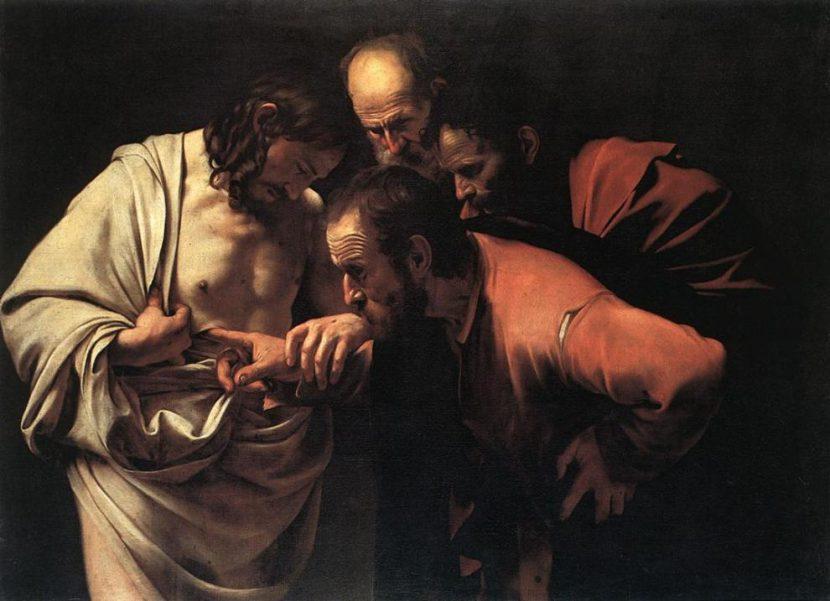 L-incrédulité-de-saint-Thomas-Le-Caravage